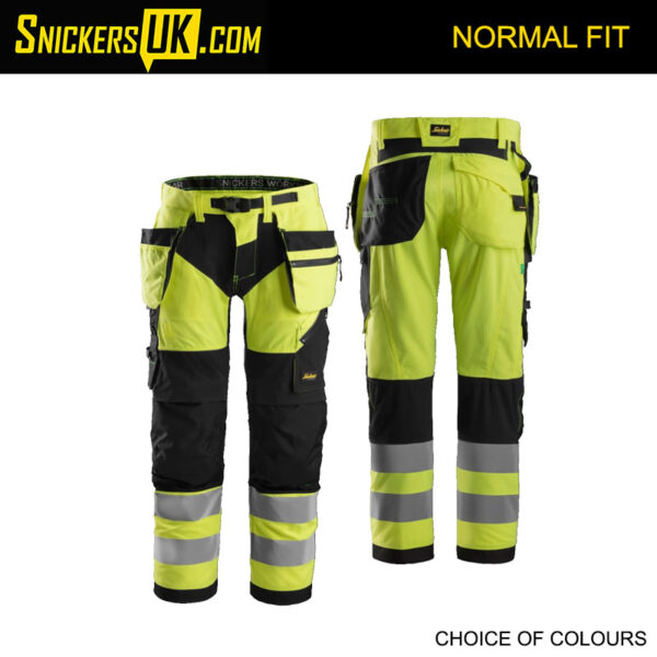 online for sale factory authentic buying cheap Snickers 6932 FlexiWork Hi-Vis Holster Pocket Trousers | Snickers Trousers