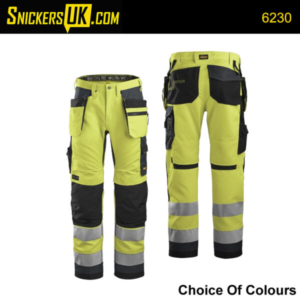 Snickers AllRoundWork Hi-Vis Work Trousers 6230   Snickers Trousers