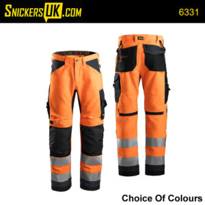 Snickers 6331AllroundWork Hi-Vis Non Holster Pocket Trousers