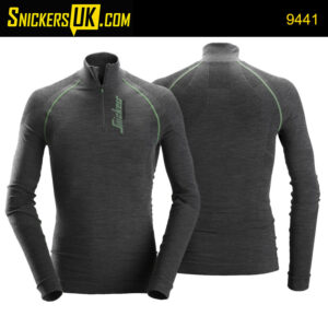 Snickers 9441 FlexiWork Seamless Wool Long Sleeve HZ Shirt