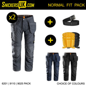 Snickers AllRoundWork Trousers Pack B | 6201 Trousers | 9110 Pads | 9025 Belt
